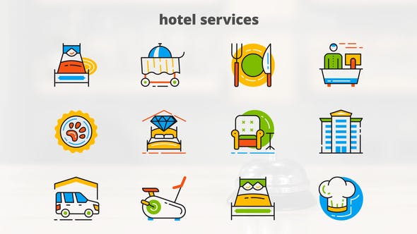 Hotel Services - Flat Animated Icons