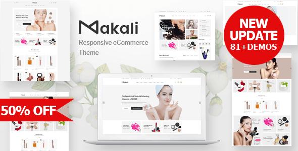 Makali v1.0 - template for online cosmetics store OpenCart