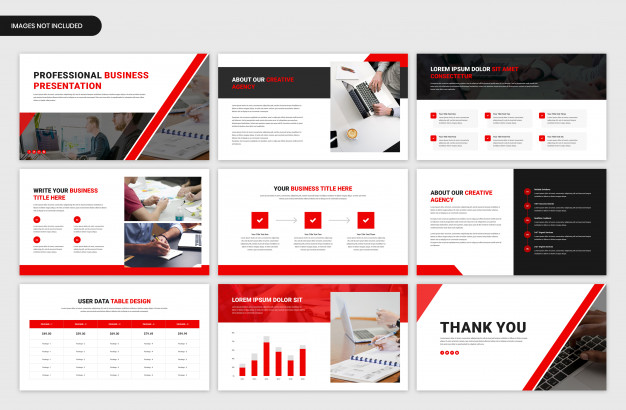 Minimal project overview slider template