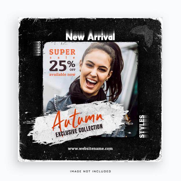 New arrival fashion social media post banner Premium Psd