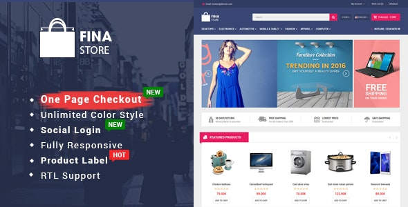 So Fina v1.0.2 - Multipurpose OpenCart Template