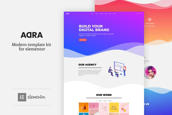Adra - Modern & Creative Elementor Template Kit