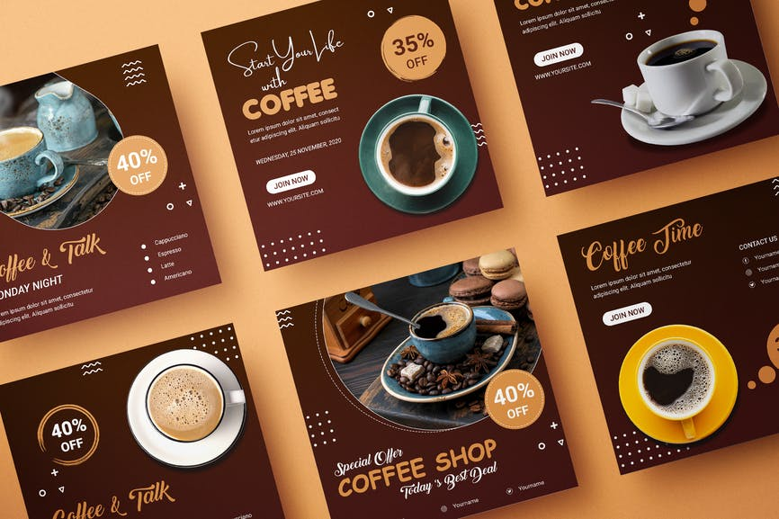 Coffe Banner Template