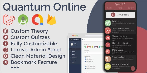Educational App (Theory & Quizzes) + CMS Admin Panel