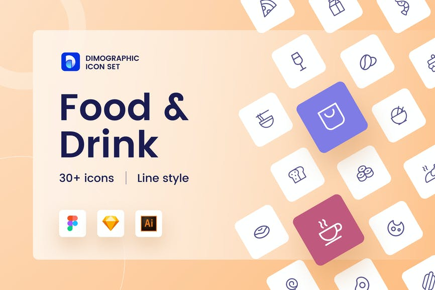 Food & Drink Icon Set UZ