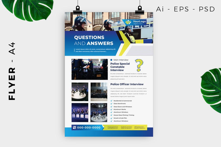 Police Public Service Flyer Design