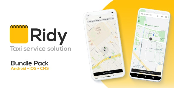 Ridy - Taxi Application Android & iOS + Dashboard
