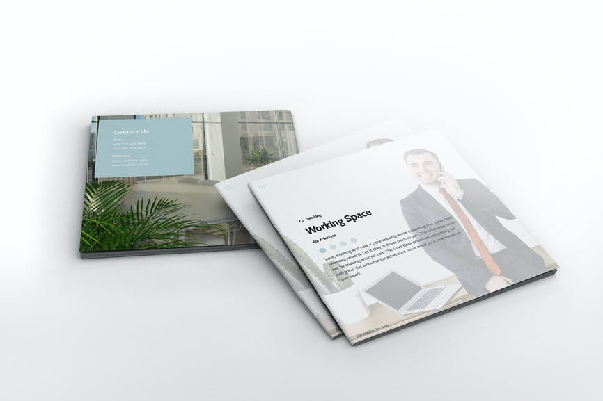 Working Space Square Brochure Template