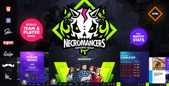 Necromancers - eSports Team HTML Template