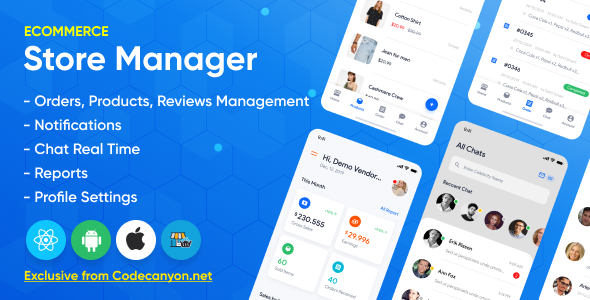 Store Manager v1.2.0 - React Native App for Wordpress Woocomerce