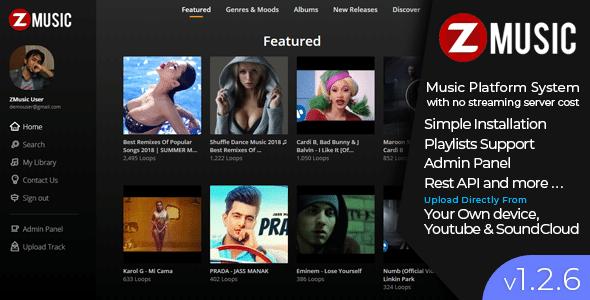 Zuz Music - Advance Music Platform System