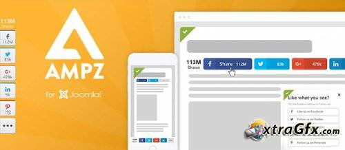 AMPZ Extended v3.6.8 - social buttons for Joomla