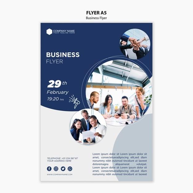 Business flyer template Premium Psd