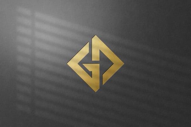 Close up on wall logo mockup isolated Premium Psd