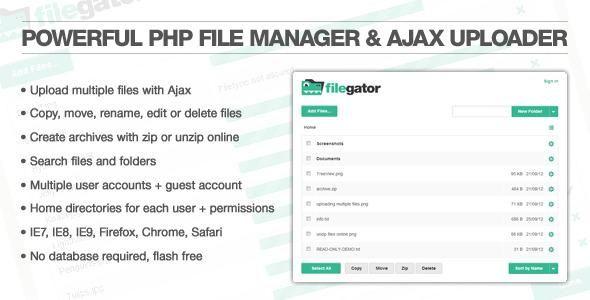 FileGator PRO v5.0 - PHP file manager