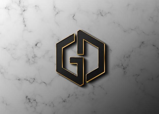 Graphic design software logo mockup Premium Psd