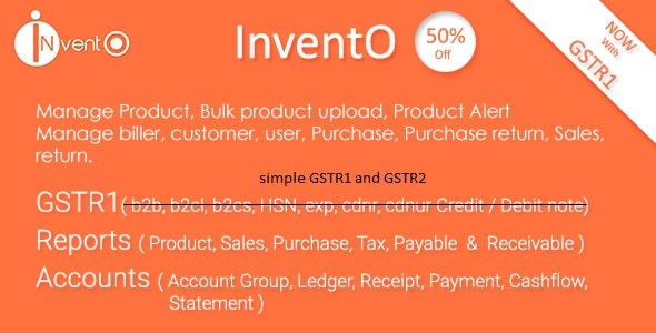 InventO - Accounting - Billing - Inventory (GST Compliance with GSTR1 & GSTR2 Integrated)
