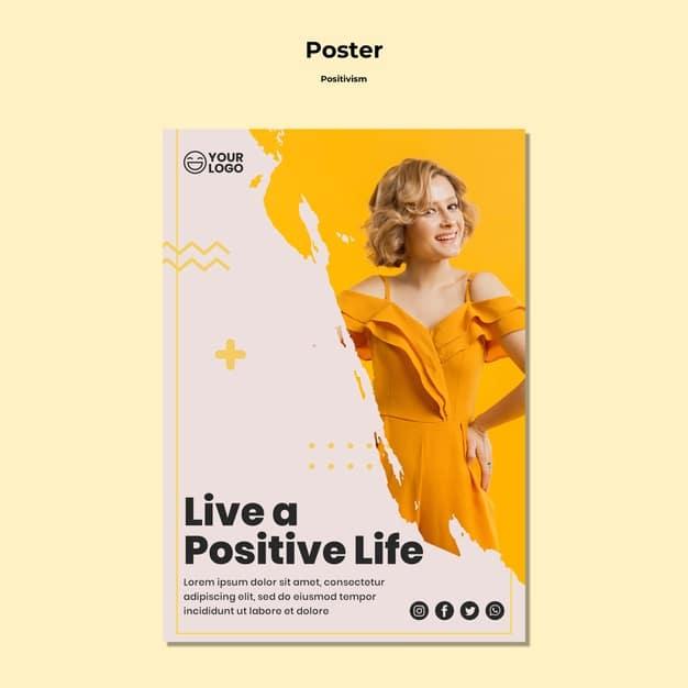 Positivism flyer template Premium Psd