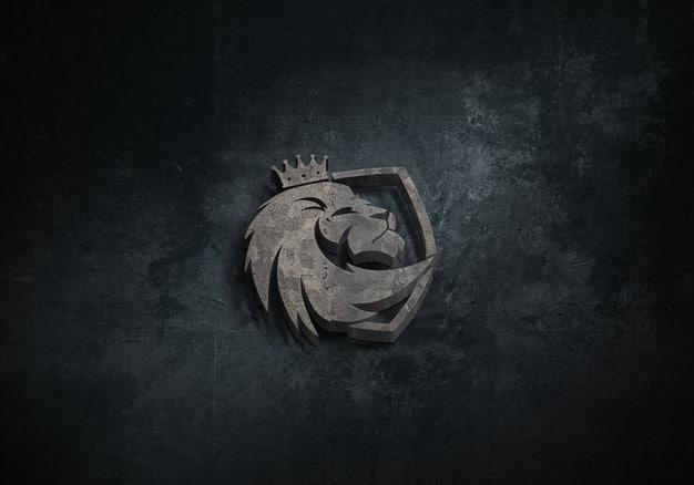 Solid 3d logo mockup Premium Psd