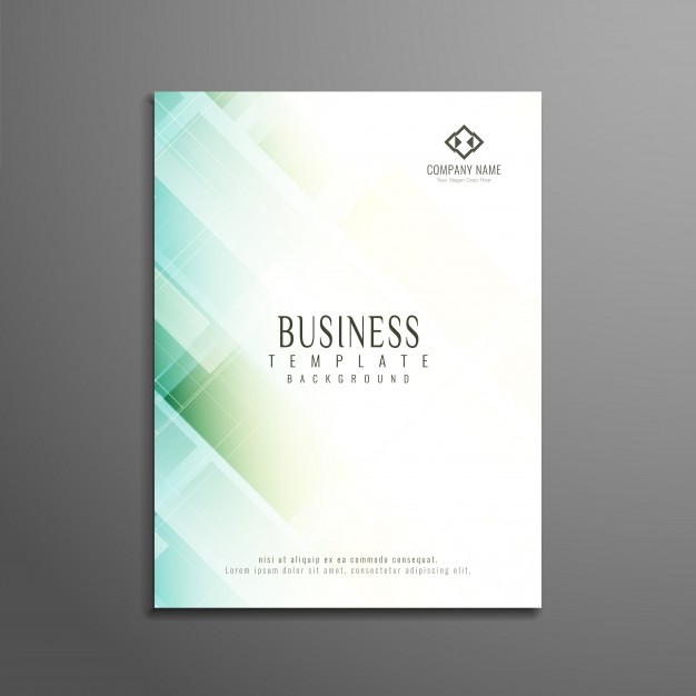 Abstract elegant geometric business brochure design Free Vector