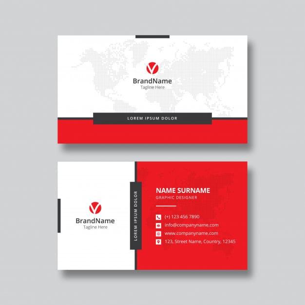 Business card template design Premium Vector