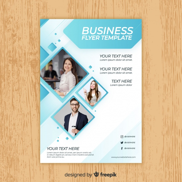 Business flyer template Premium Vector