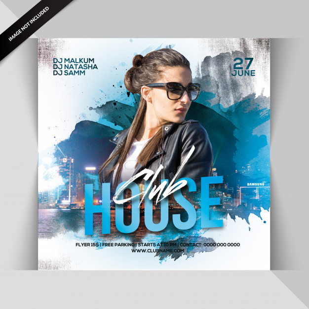 Club house party flyer Premium Psd
