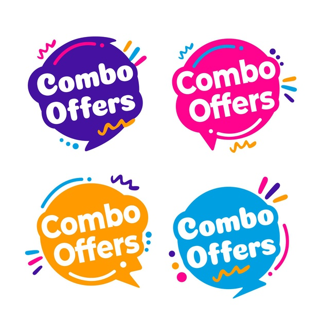 Combo offers - labels concept Free Vector