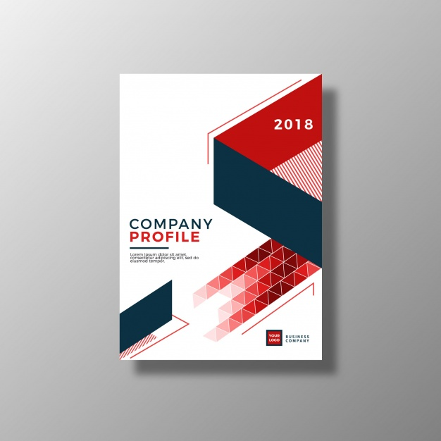 Geometric business brochure Free Vector