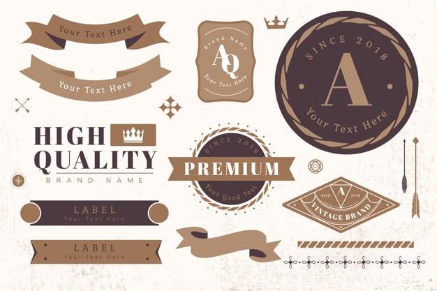 Vintage high quality design element vectors