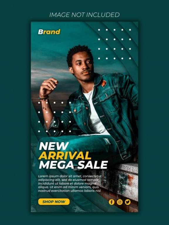 Mega sale social media banner post template premium psd Premium Psd