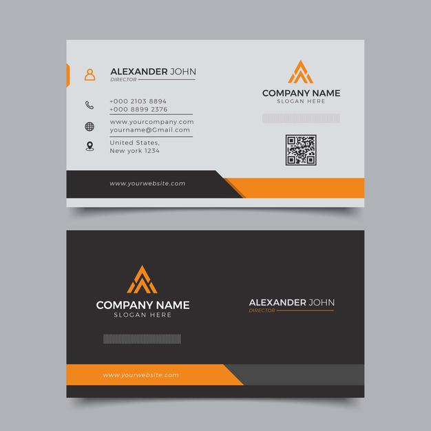 Modern business card corporate professional Premium Vector