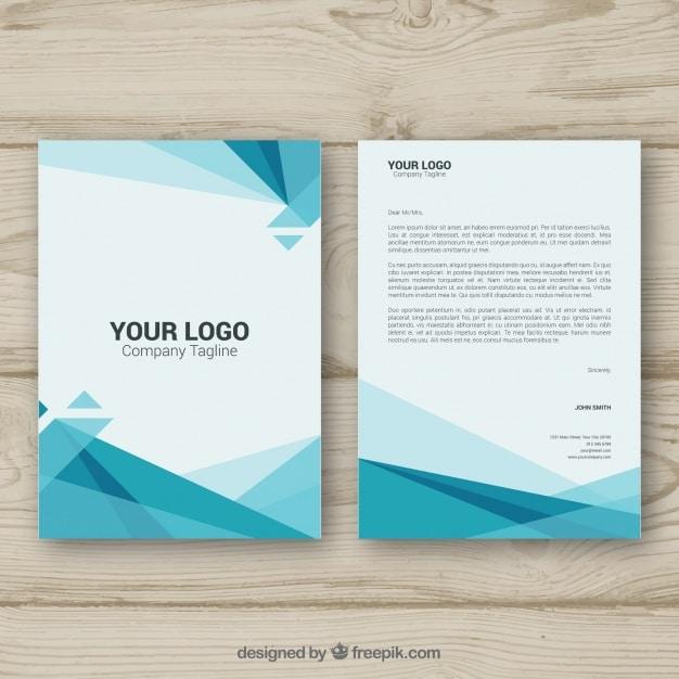 Polygonal corporate brochure Premium Vector