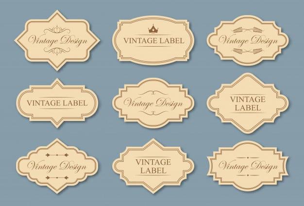 Retro craft labels set Free Vector