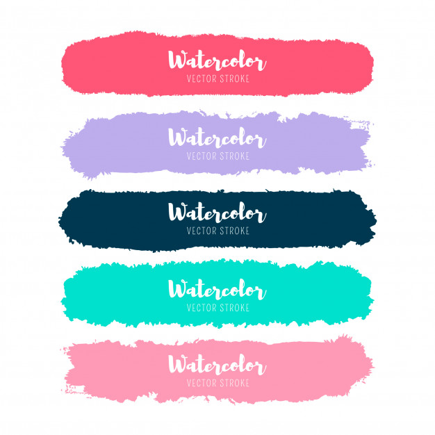 Watercolor label collection Free Vector