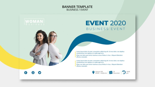 Web template for business event Premium PsdWeb template for business event Premium Psd