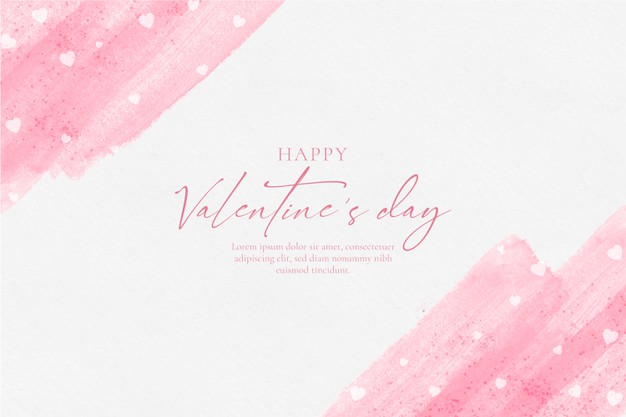 Happy valentines day watercolor background Vector