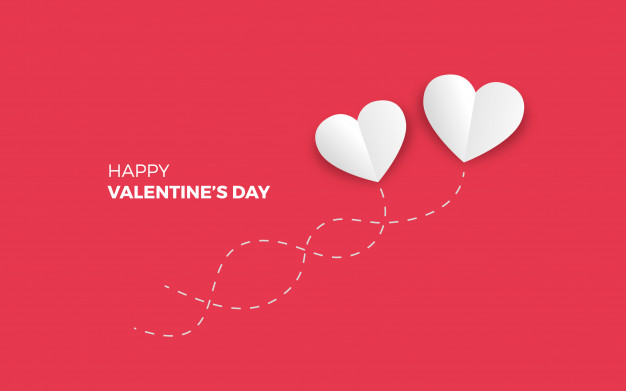 Minimalistic valentine's day background Vector