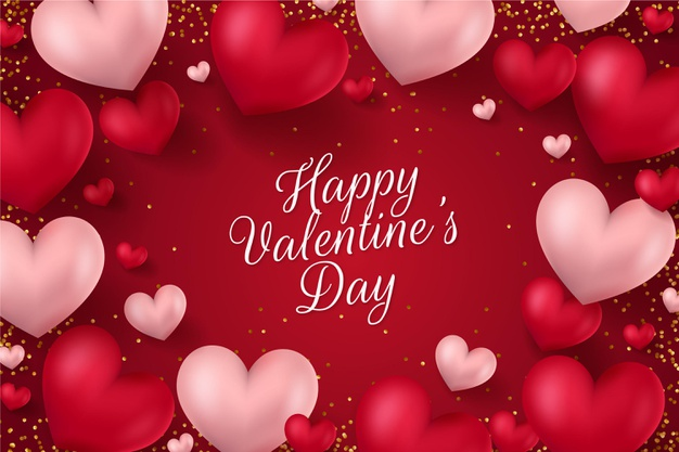 Realistc valentines day background Vector
