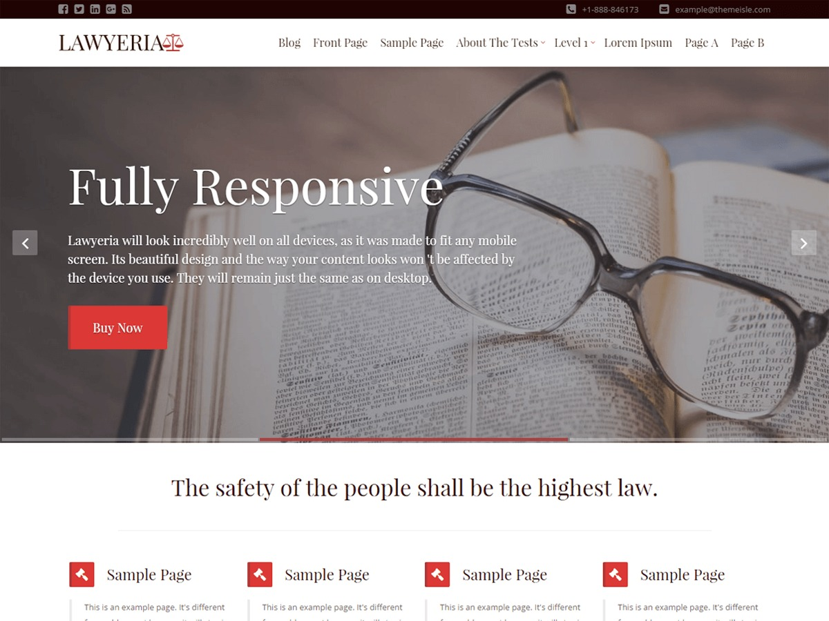 LawyeriaX company WordPress theme