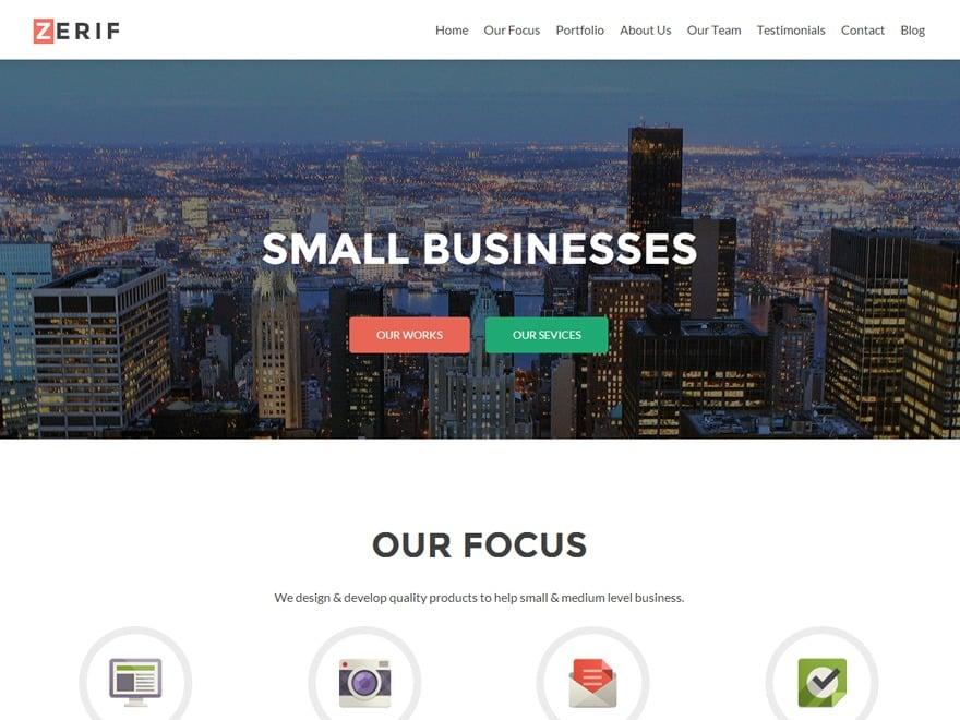 Zerif PRO company WordPress theme
