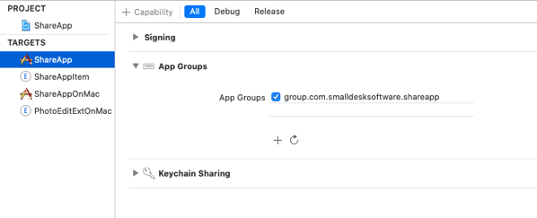 Group setting for App