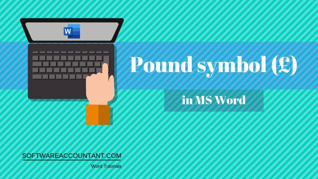 Pound in Word