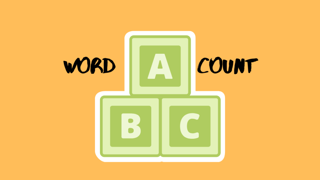 how to show word count on word
