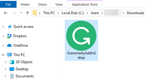 Grammarly installer