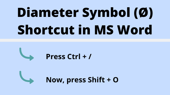 diameter symbol keyboard shortcut