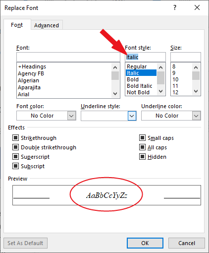 How to find and replace in Word plus shortcut