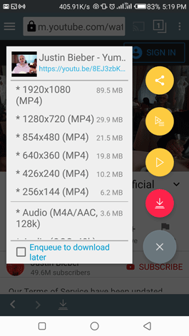 YouTube to mp3 downloader