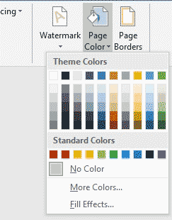 Select your desired color