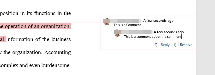 reply to comments in Word